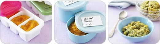 Don't forget to label,and storing in cubes and in jars baby food.