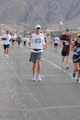 My husband in the El Paso Marathon, March 2011.