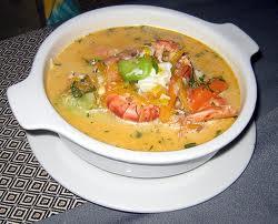 Chupe de camarones (shrimp soup)