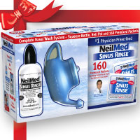 NeilMed's combo pack of Neti Pot and Sinus Rinse bottle.  A good choice if you want to try both methods and decide which works best for you.