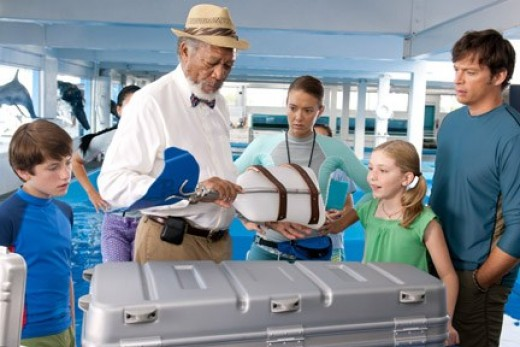 """Freeman showed his latest creation in """"Dolphin Tale."""""""