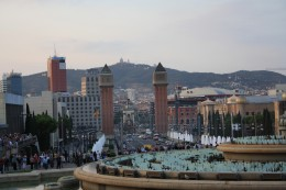 Magic Fountain of Montjuic at Daytime, Barcelona, Spain