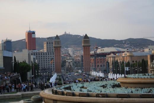 Magic Fountain of Montjuic at Daytime, Barcelona, Spain