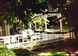 Wide porches around Edison homes