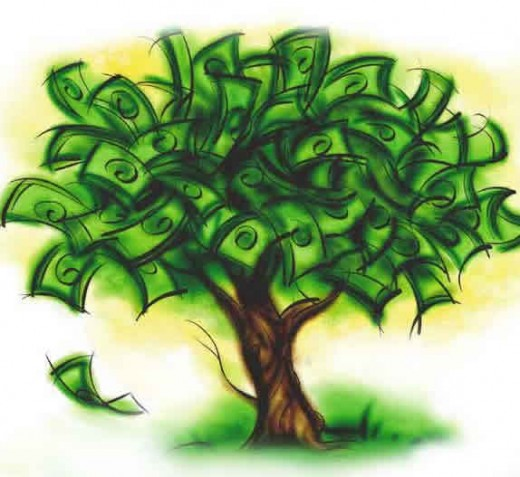 Money does grow on trees sort of