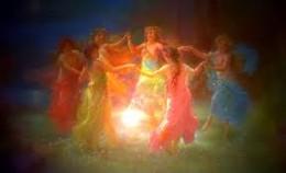 Dancing rainbow fairies