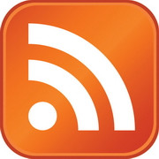 The standard RSS feed button