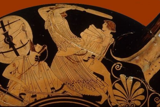 Andromache protecting her son, Astyanax