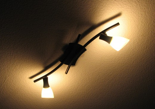 Multi-globe light fittings use more energy than a single globe. Use them sparingly.