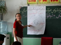 Teaching the adult learning cycle in Uyghur, Shanshan, Xinjiang, China ~ everystockphoto.com ~ Photographer: P. Morgan