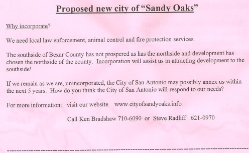 Petition drive held on Saturday, Jan 14, 2012.