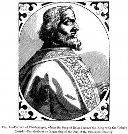 Portrait of Charlemagne, engraving, end of 16th century