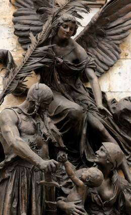 Angel statue in Buda Castle