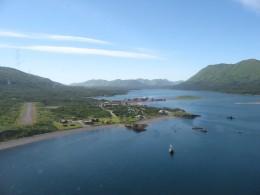Isolated but beautiful Larsen Bay, Alaska