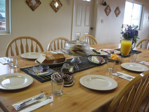 Commune Breakfast Set Up for a Lodge