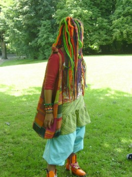 Hippie style was the new Bohemian look based on folk costume with a gypsy influence.