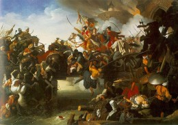 Miklós Zrínyi issues forth into battle.