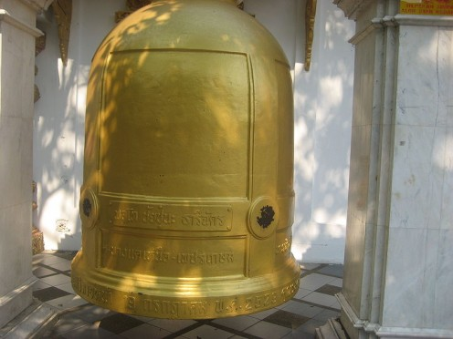 Gold Bell at Wat Doi Suthep, Chiang Mai, Thailand.