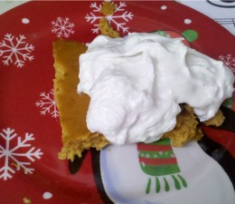 Pumpkin Goo topped with whipped topping - enjoy!!