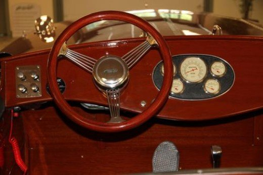 Solid Mahogany Wooden Speed Boat Console by Hacker Craft