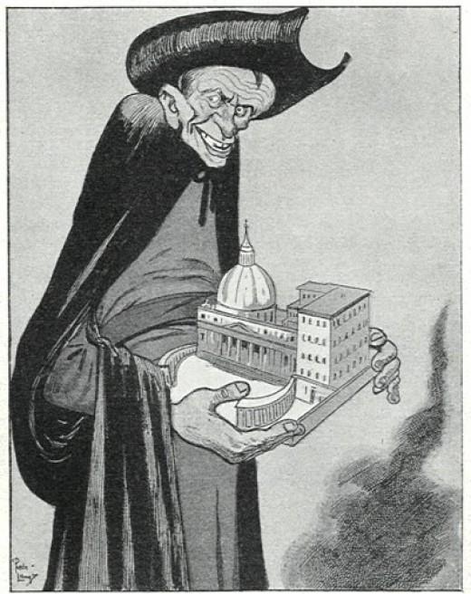 anti-Jesuit cartoon, 1902