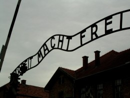 Gate of Auschwitz, recently the target of vandals