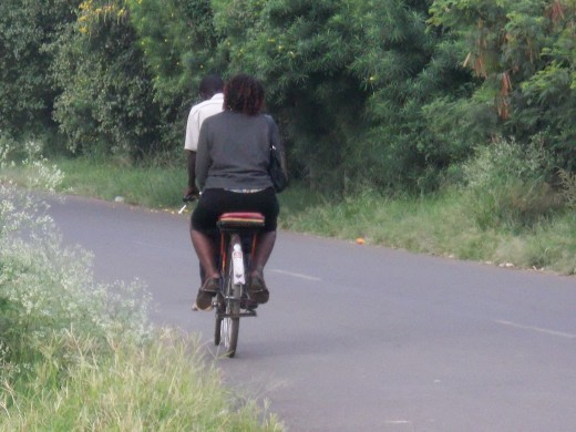 If you do not want to walk, there are numerous public transport bicycles called Bodaboda.