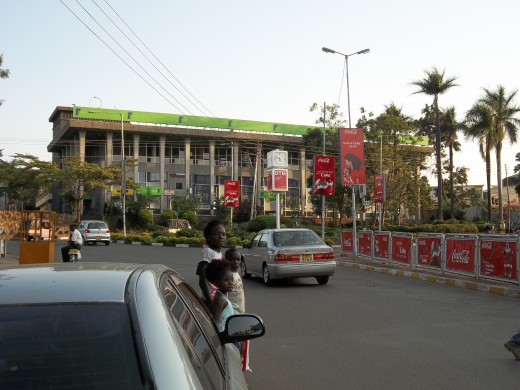 The picture above was taken from the flower bed of this KCB bank