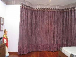 Curtains in bedroom window
