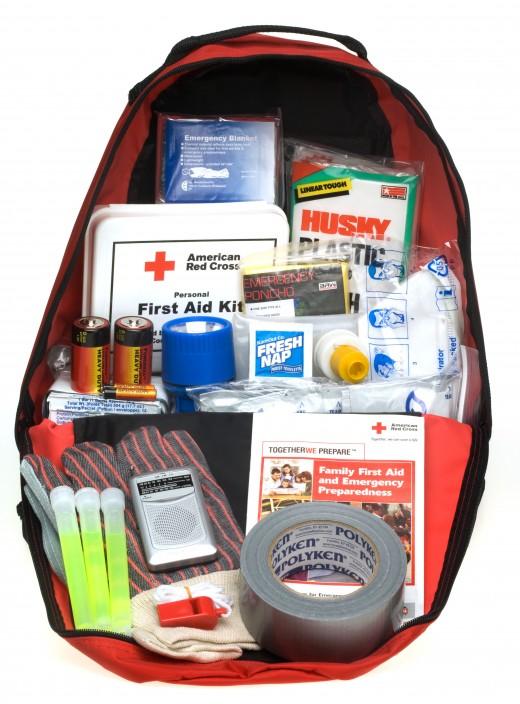Off-the-shelf Red Cross preparedness kit .