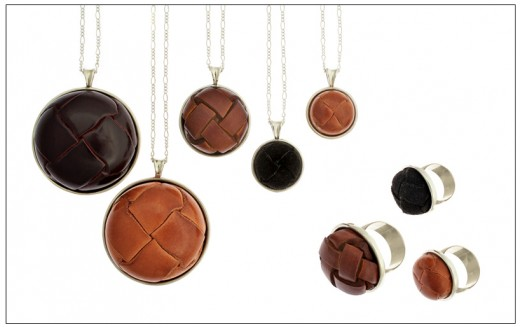 Leather Button Jewelry From Elizabeth Yarborough