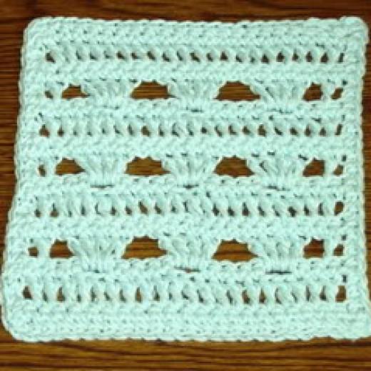 Double Crochet Simple Dish Cloth