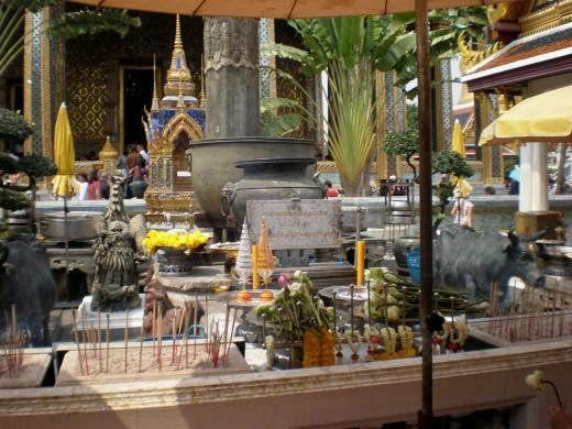 Wat Phra Kaew Buddist Temple in Bangkok, Thailand.