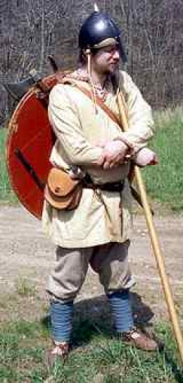 An Icelander 'kitted out' for trouble. Egil was an accomplished warrior already in his mid-teens