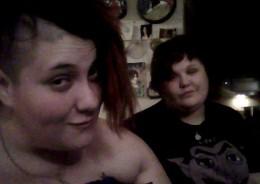 Morganna cut my hair. Had to get a pic