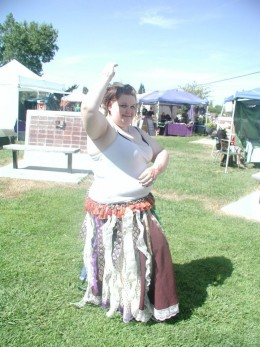 Our first belly dancing performance. The Harvest Festival: A Gathering of Pagans