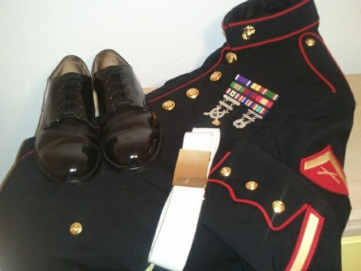 Shoes: Born in 1967  Dress Blues: Born in 2005