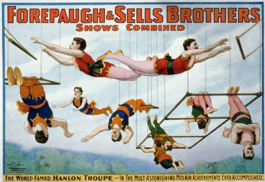 "Trapeze artists would have a hard time finding work if it hadn't been for ""Cirque Du Soleil"" here in Las Vegas, Nevada."