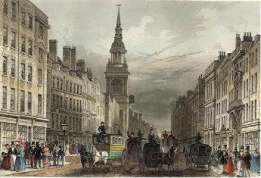 St.Mary le Bow, London in the 1800's