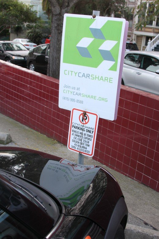 CityCarShare, Walgreen's Parking Lot, San Francisco, January 2012.