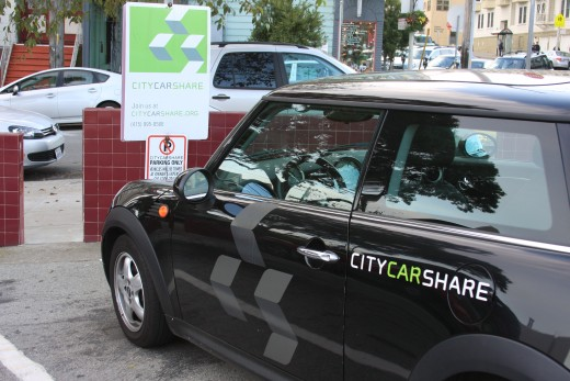 CityCarShare, Walgreen's Parking Lot,San Francisco, January 2012.