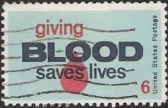 1971 Giving Blood Stamp