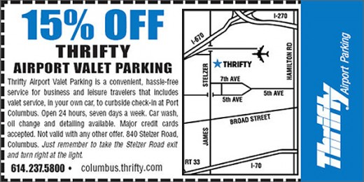 Seatac parking coupons thrifty