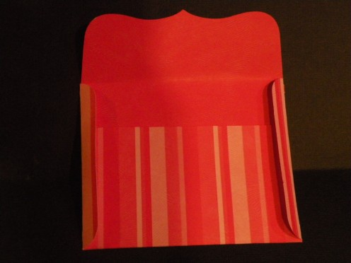 Envelope side flaps folded
