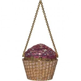 Judith Leiber Strawberry Cupcake Clutch -  You can rent this for about $85/week or buy for about $4300.