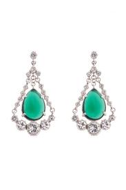 Emerald Eye Chandelier Earrings by Gerard Yosca