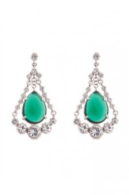 Emerald Eye Chandelier Earrings by Gerard Yosca