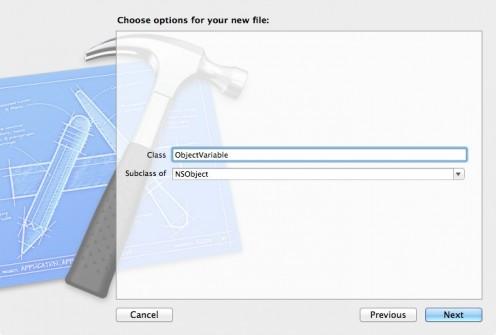 Create the ObjectVariable Class