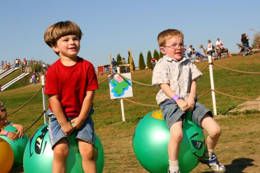 Ball hoppers are a wonderful toy to expend energy - indoors and out!