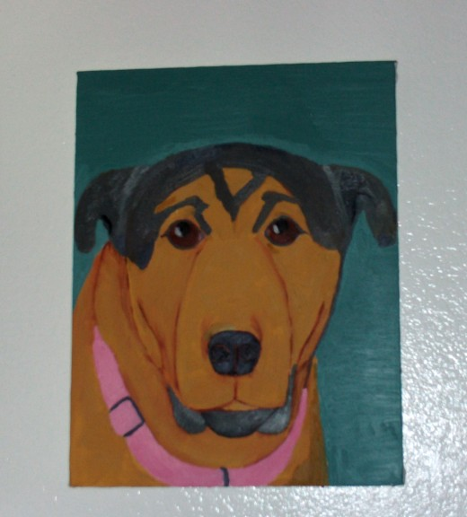 My painting of Buster the dog.